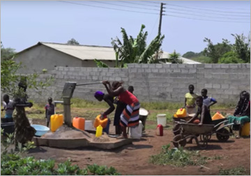 VisionZambia deliver water to zone 8